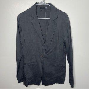 Eileen Fisher Dark Gray Linen Blazer Size 6